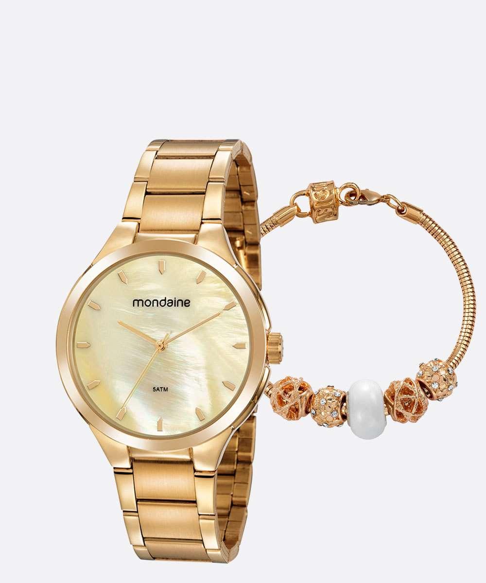 Kit Relógio Feminino Mondaine 53835LPMVDE1K