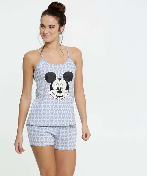 Image_Pijama Feminino Estampa Mickey Alças Finas Disney