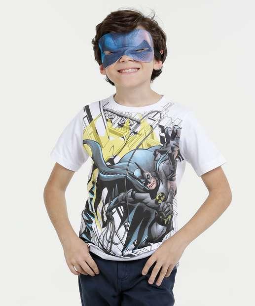 Image_Camiseta Infantil Batman Brinde Máscara Liga da Justiça