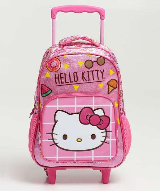 Image_Mochila Infantil Escolar Rodinha Hello Kitty Xeryus