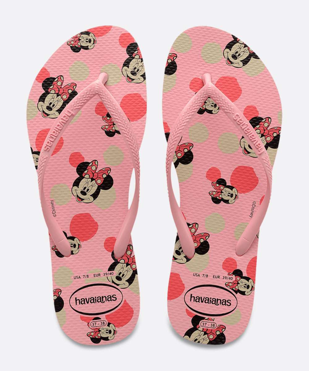 Chinelo Havaianas Feminino Slim Estampa Minnie