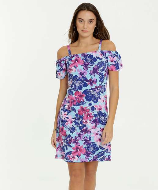 Image_Vestido Feminino Open Shoulder Estampa Tropical