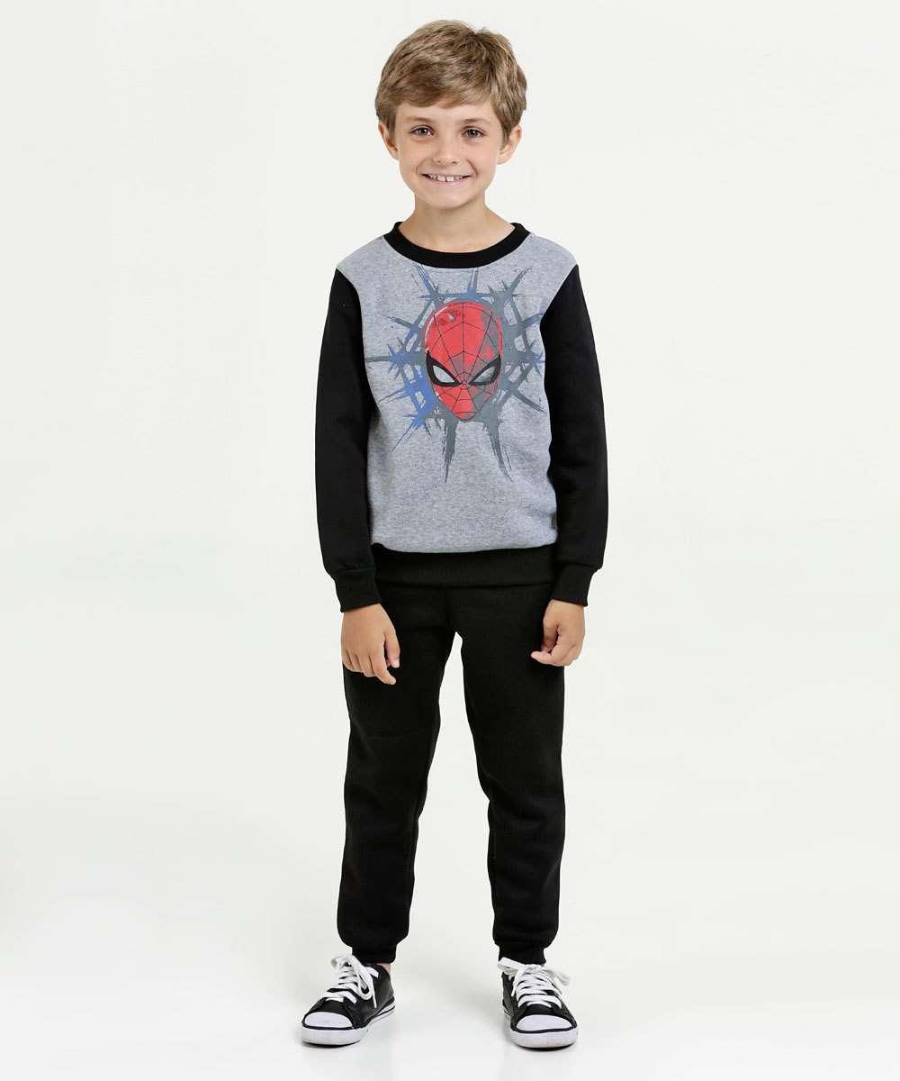 Conjunto Infantil Moletom Homem Aranha Marvel