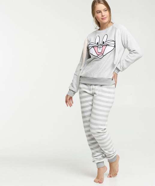 Image_Pijama Feminino Chenille Pernalonga Looney Tunes