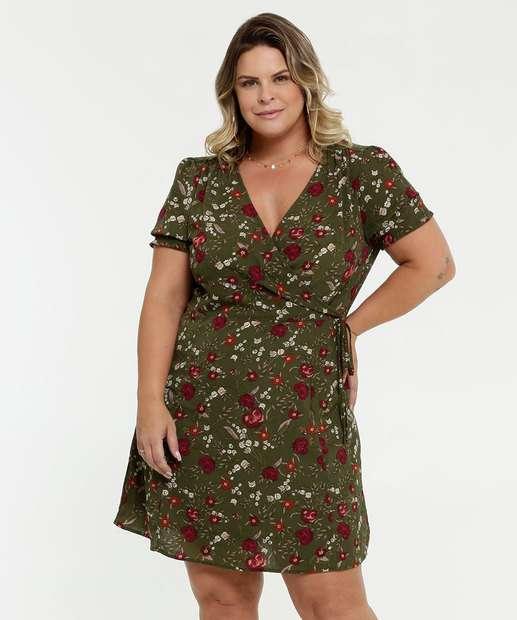 Image_Vestido Feminino Transpassado Estampa Floral Plus Size Marisa