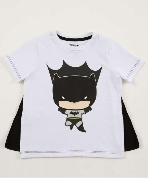 Image_Camiseta Infantil Batman Capa Manga Curta Liga da Justiça