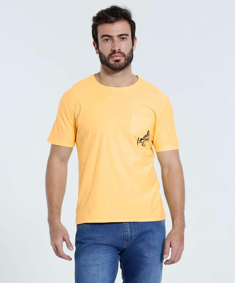 Image_Camiseta Masculina Bolso Manga Curta Marisa