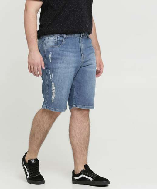 Image_Bermuda Masculina Jeans Destroyed Plus Size Razon