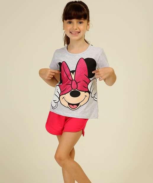 Image_Conjunto Infantil Estampa Minnie Manga Curta Disney Tam 4 a 10