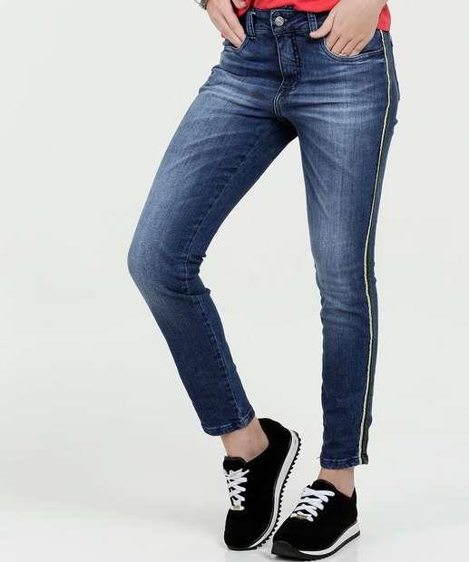 Image_Calça Feminina Jeans Skinny Listras Razon