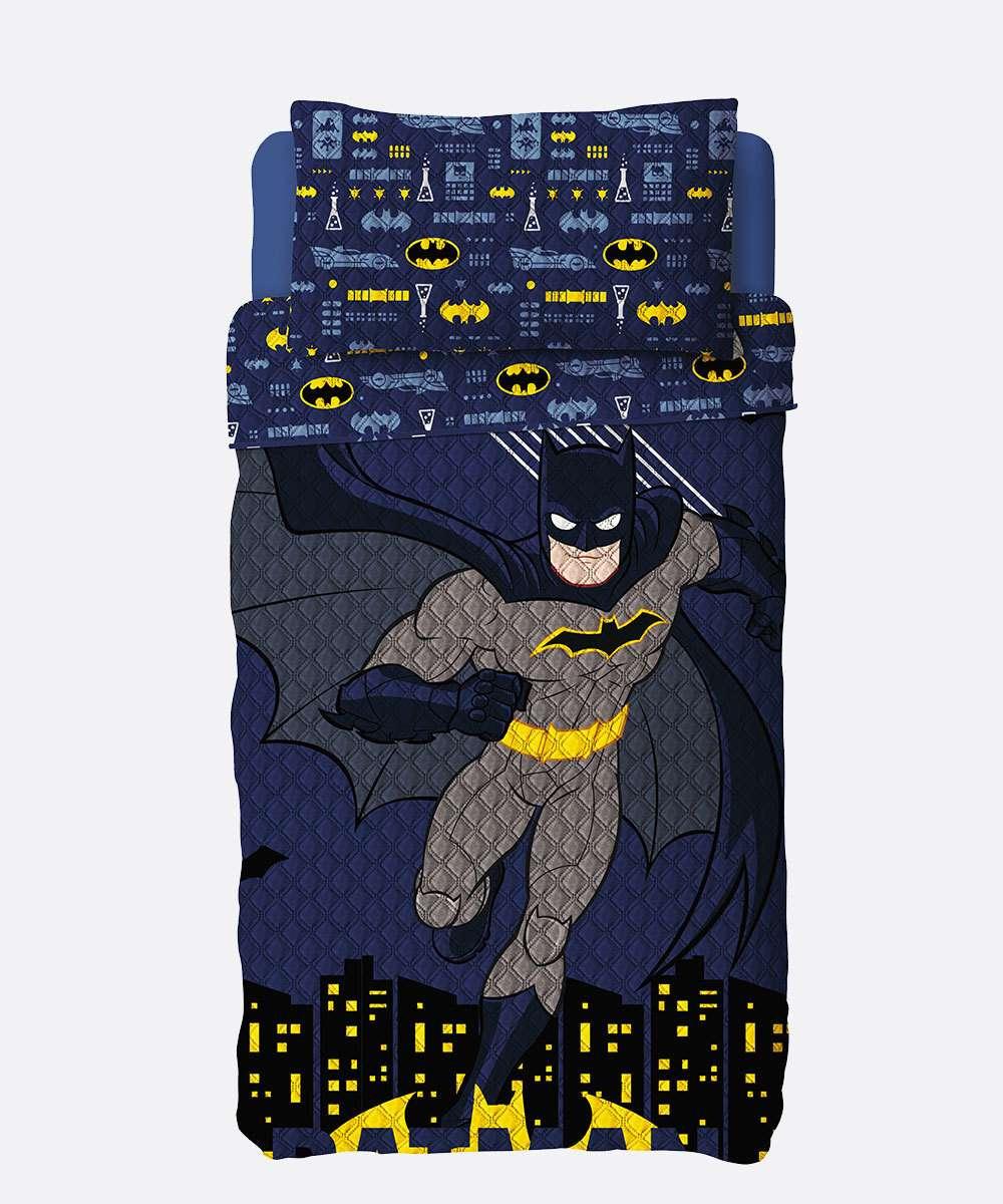 Colcha Infantil Dupla Face Estampa Batman Lepper 1 Peça