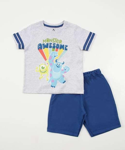 Image_Conjunto Infantil Estampa Monstros SA Manga Curta Disney