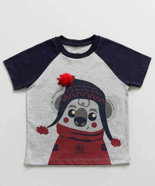 Image_Camiseta Infantil Estampa Coala Manga Curta MR