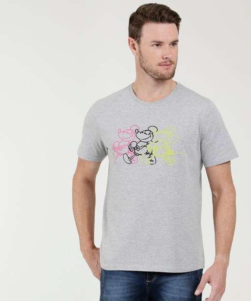 Image_Camiseta Masculina Estampa Mickey Manga Curta Disney