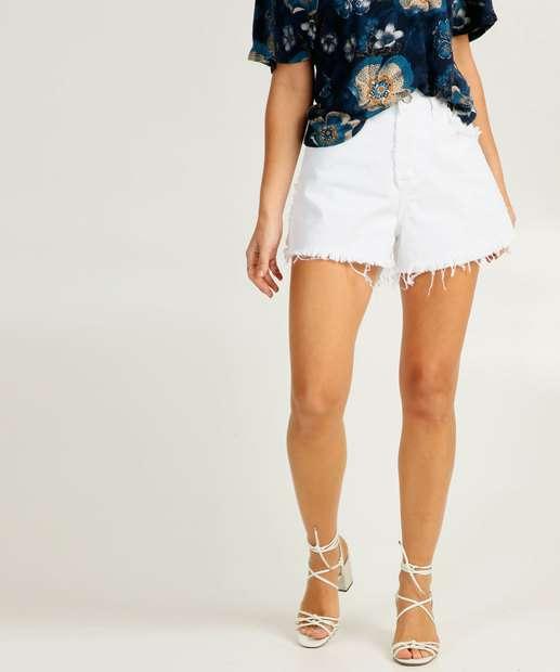Image_Short Jeans Feminino Cintura Alta Bolsos
