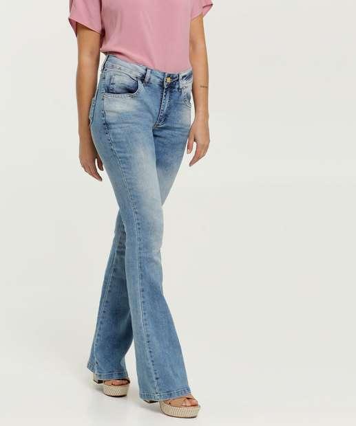 Image_Calça Feminina Flare Stretch Uber Jeans