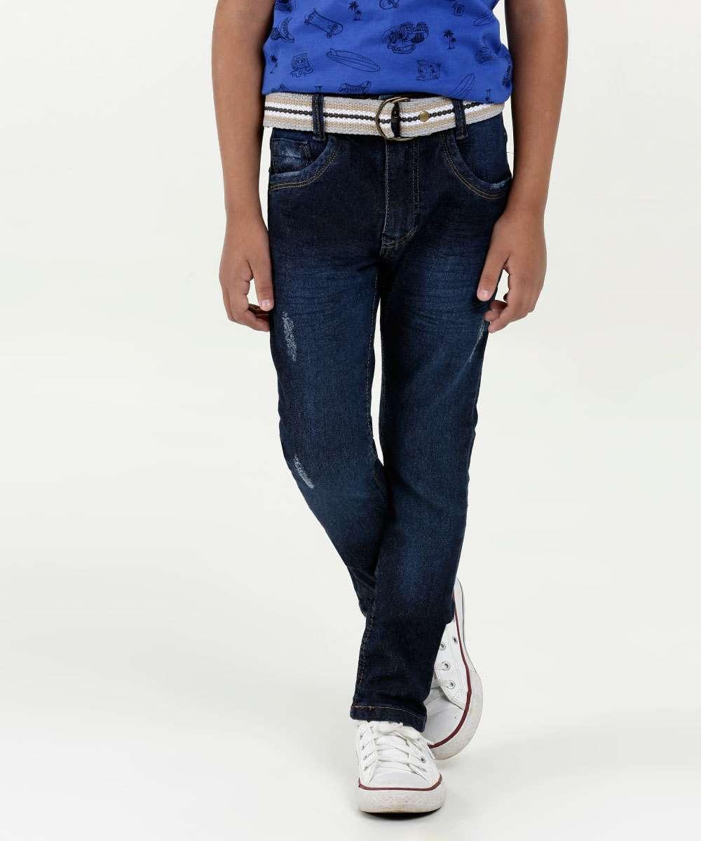 Calça Infantil Jeans Puídos