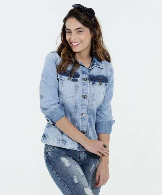 Image_Jaqueta Feminina Jeans Manchada Marisa