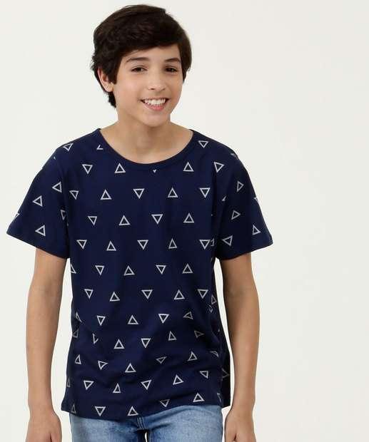 Image_Camiseta Juvenil Estampa Geométrica Manga Curta