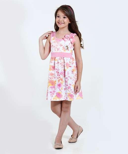 Image_Vestido Infantil Estampa Floral Bela Disney