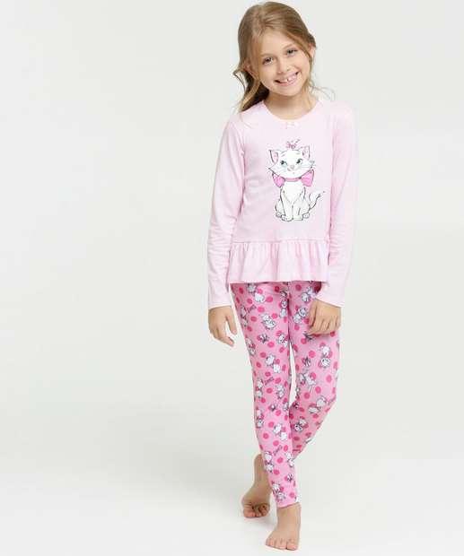 Image_Pijama Infantil Babado Estampa Marie Disney