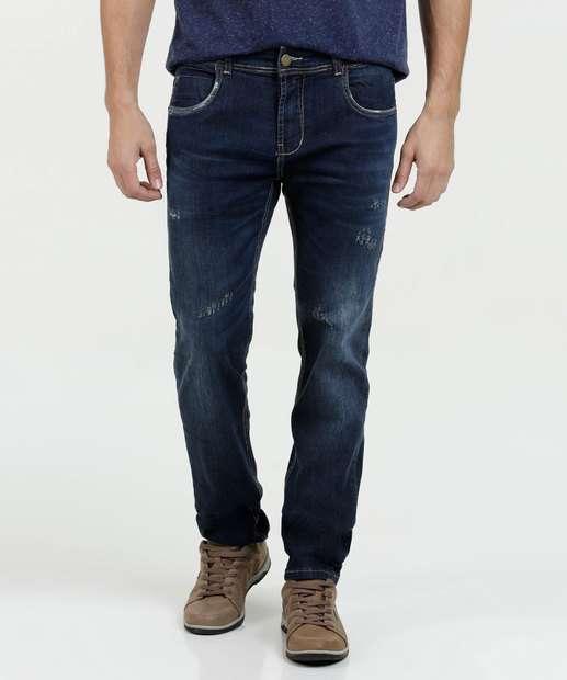 Image_Calça Masculina Jeans Puídos Slim Sawary