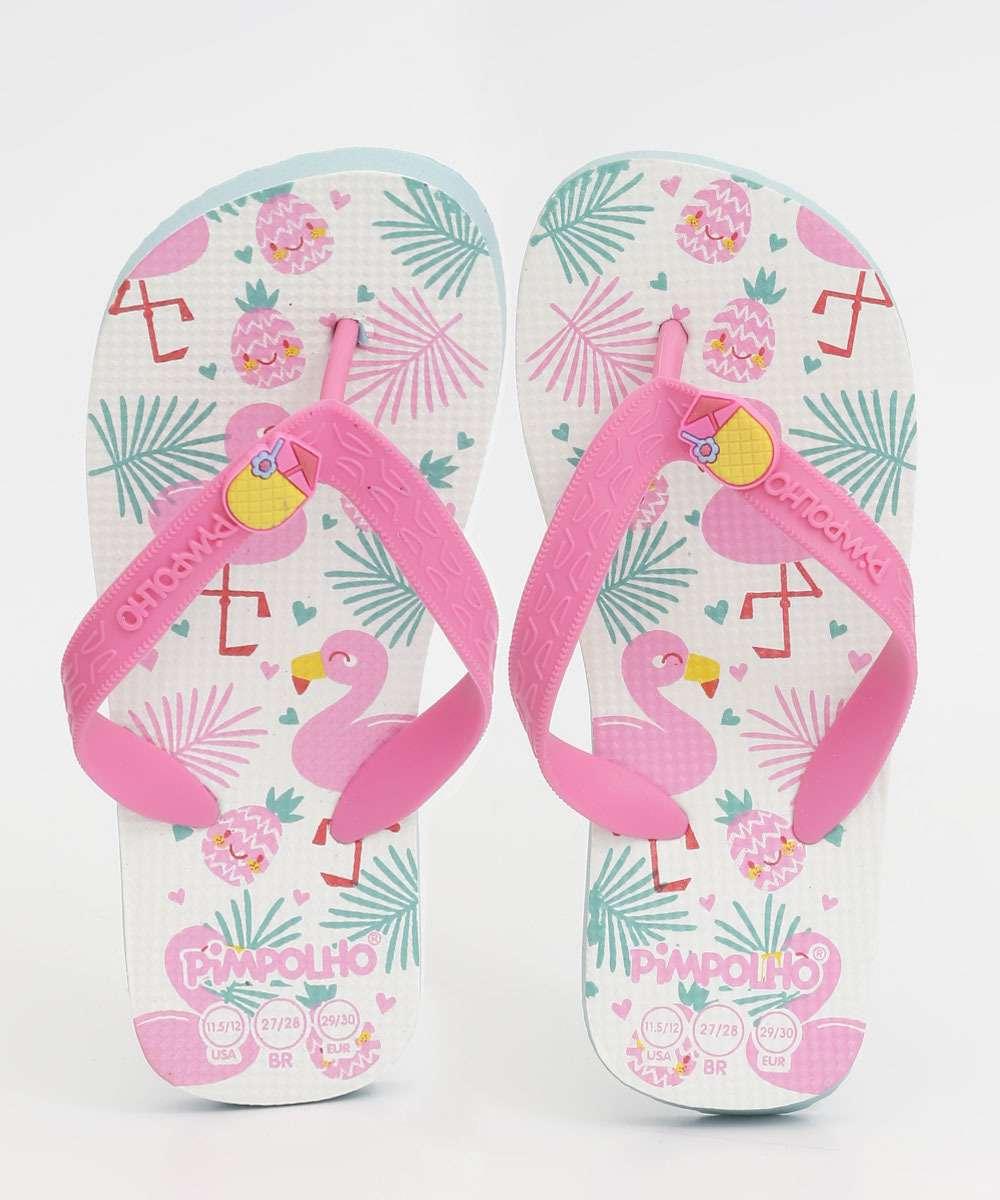 Chinelo Infantil Estampa Flamingo Pimpolho