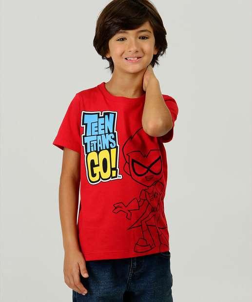 Image_Camiseta Infantil Estampa Jovens Titans Warner Tam 4 a 10