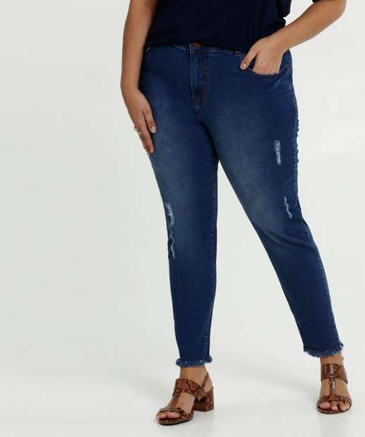 Image_Calça Jeans Cigarrete Destroyed Feminina Plus Size Marisa