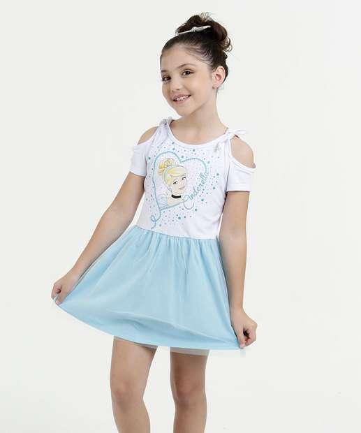 Image_Vestido Infantil Estampa Cinderela Manga Curta Disney