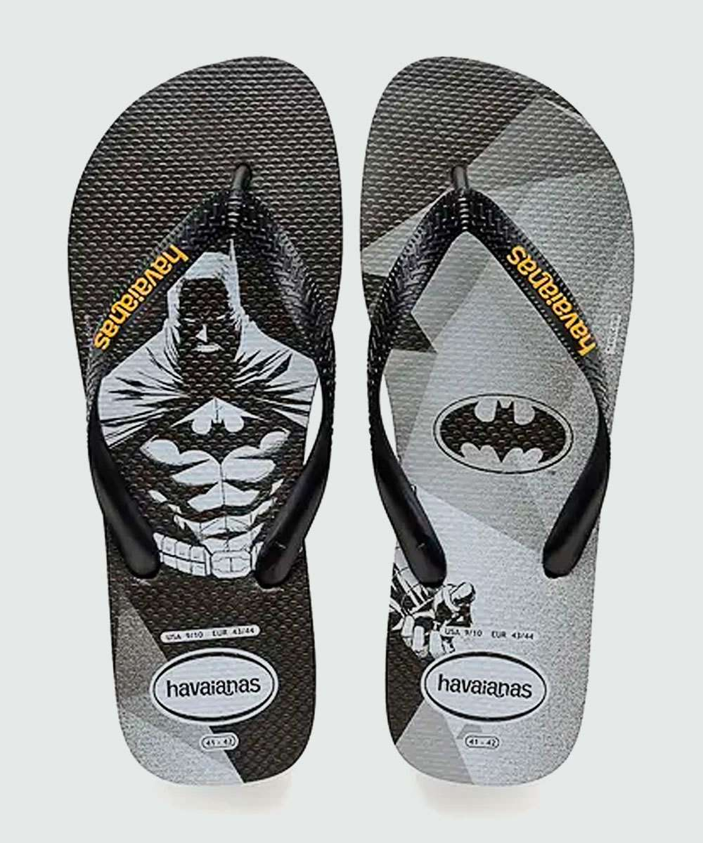be339e5dd8e500 Chinelo Masculino Batman Top Heróis DC Havaianas 0090