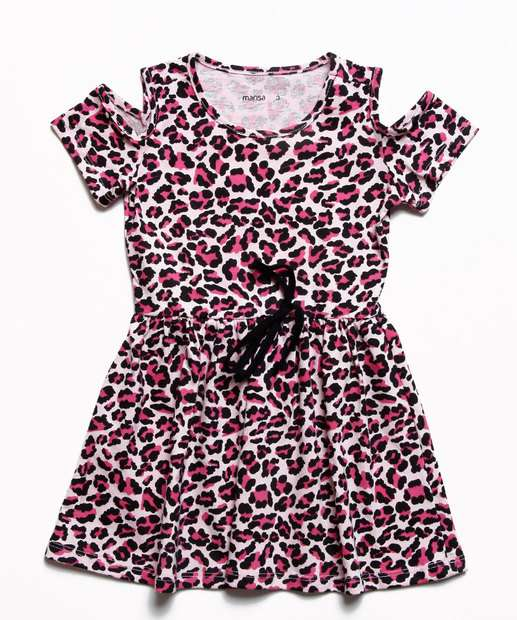 Image_Vestido Infantil Open Shoulder Animal Print Marisa