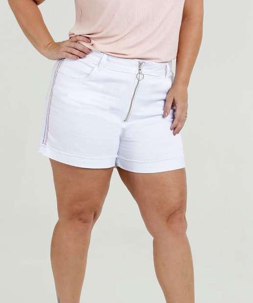 Image_Bermuda Feminina Jeans Faixa Lateral Plus Size Razon