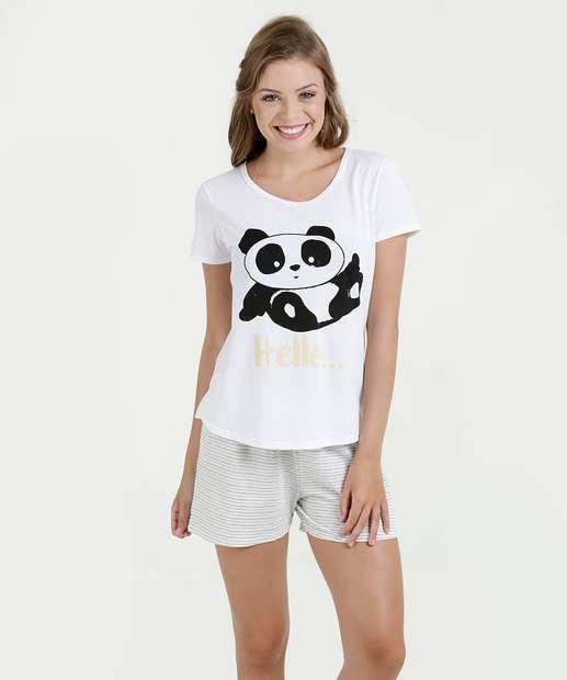 Image_Pijama Feminino Estampa Panda Manga Curta Marisa