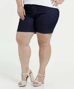 Bermuda Feminina Jeans Cintura Alta Plus Size Marisa