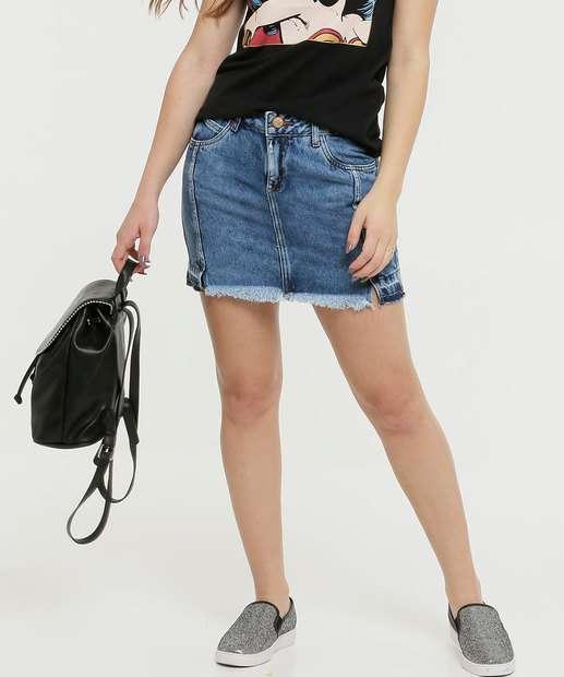 Image_Saia Feminina Barra Desfiada Fendas Zune Jeans