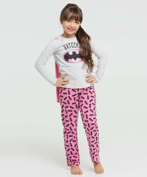 Image_Pijama Infantil Batgirl Manga Longa Liga da Justiça