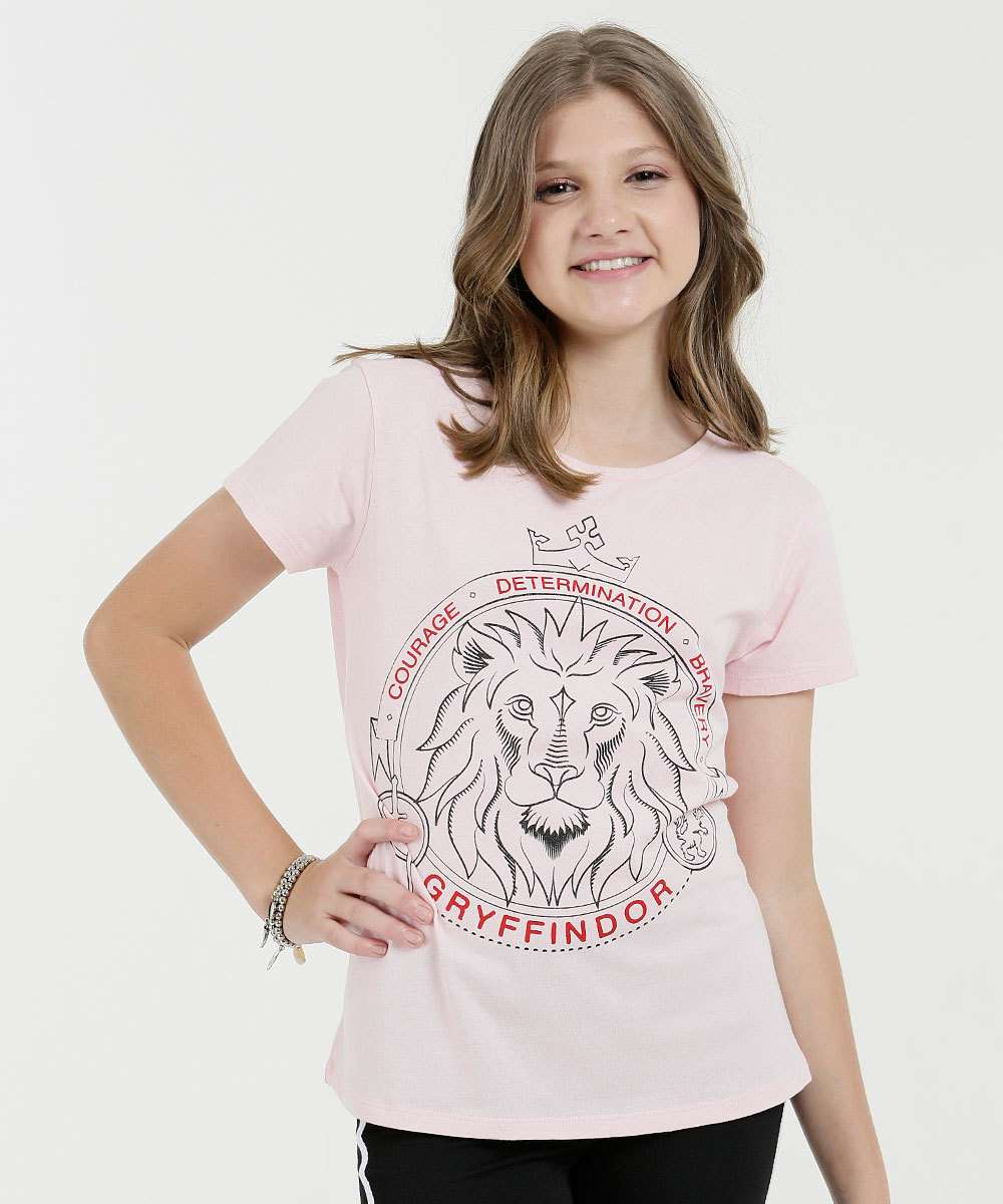 Blusa Juvenil Estampa Harry Potter Warner