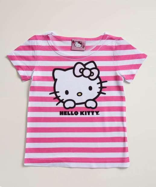 Image_Blusa Infantil Listrada Estampa Hello Kitty Sanrio