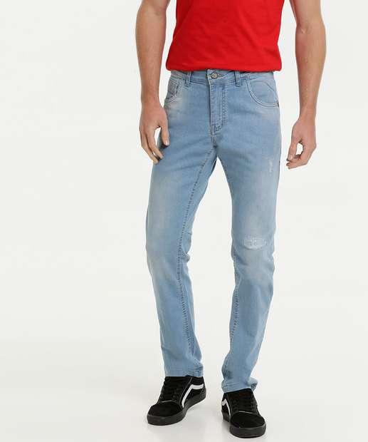 Image_Calça Masculina Jeans Puídos Slim Rock & Soda