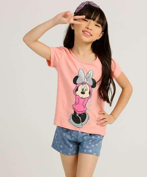 Image_Conjunto Infantil Manga Curta Estampa Minnie Disney Tam 4 a 10