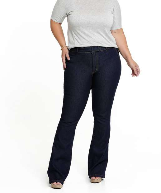Image_Calça Jeans Flare Feminina Cinto Biotipo