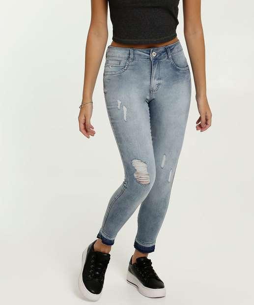 Image_Calça Jeans Cigarrete Feminina Destroyed Biotipo