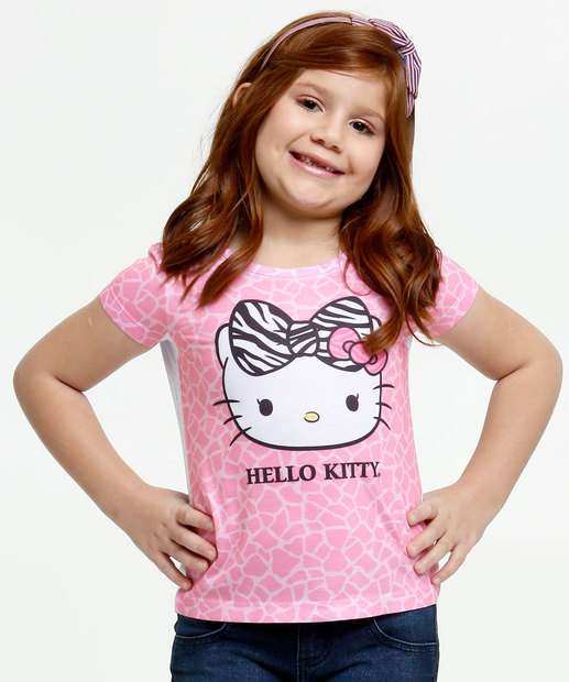 Image_Blusa Infantil Hello Kitty Animal Print Sanrio