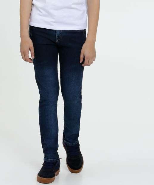 Image_Calça Juvenil Jeans Bolsos Stretch