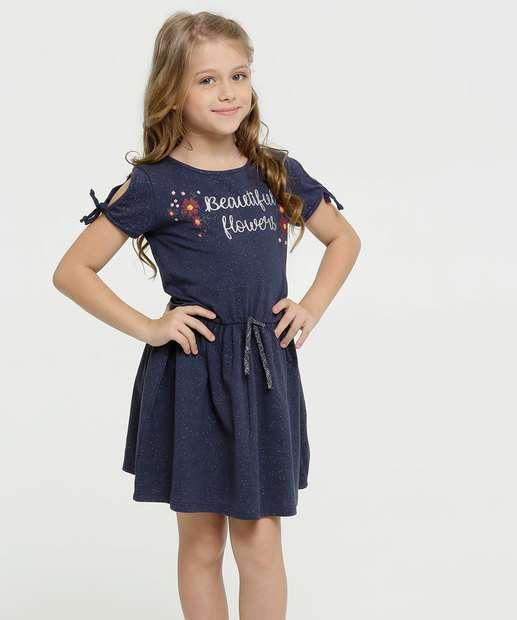 Image_Vestido Infantil Open Shoulder Estampa Frontal  Marisa