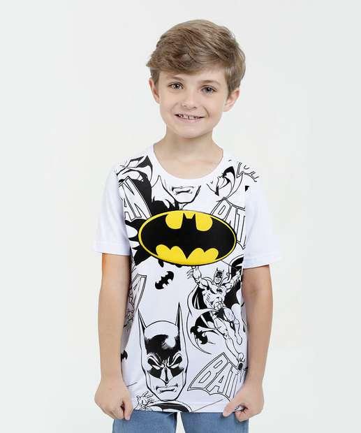 Image_Camiseta Infantil Batman Led Manga Curta Liga da Justiça