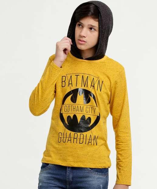 Image_Camiseta Juvenil Batman Manga Longa Liga da Justiça|