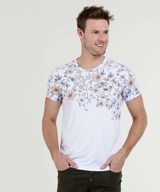 Image_Camiseta Masculina Estampa Floral Manga Curta Rock & Soda