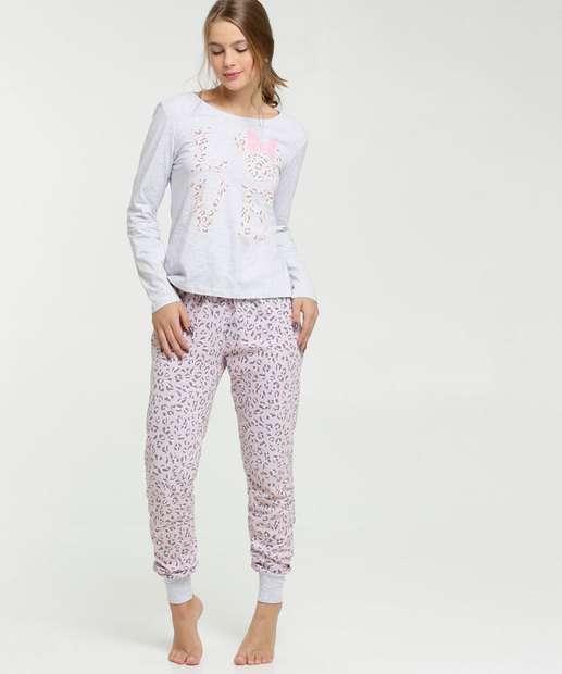 Image_Pijama Feminino Estampa Minnie Animal Print Disney